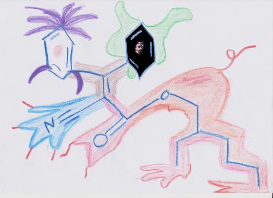 El monstruo de dos cabezas, octocrileno-n